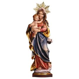 Our Lady of the Alps with Halo - Linden wood carved