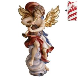 Angel on cloud with trumpet + Gift box