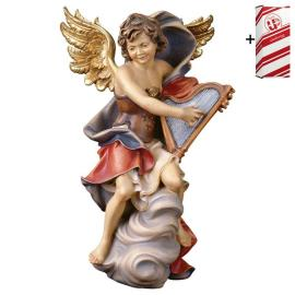 Angel on cloud with harp + Gift box