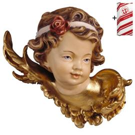 Angel-head with rose left side + Gift box