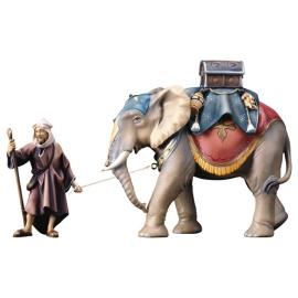 UL Elephant group with luggage saddle - 3 Pieces