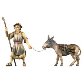 UL Pulling herder with donkey with wood - 2 Pieces